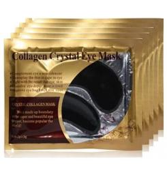 Патчи под глаза увлажняющие с коллагеном Collagen Crystal Eye Mask Black, 1 пара / чёрные